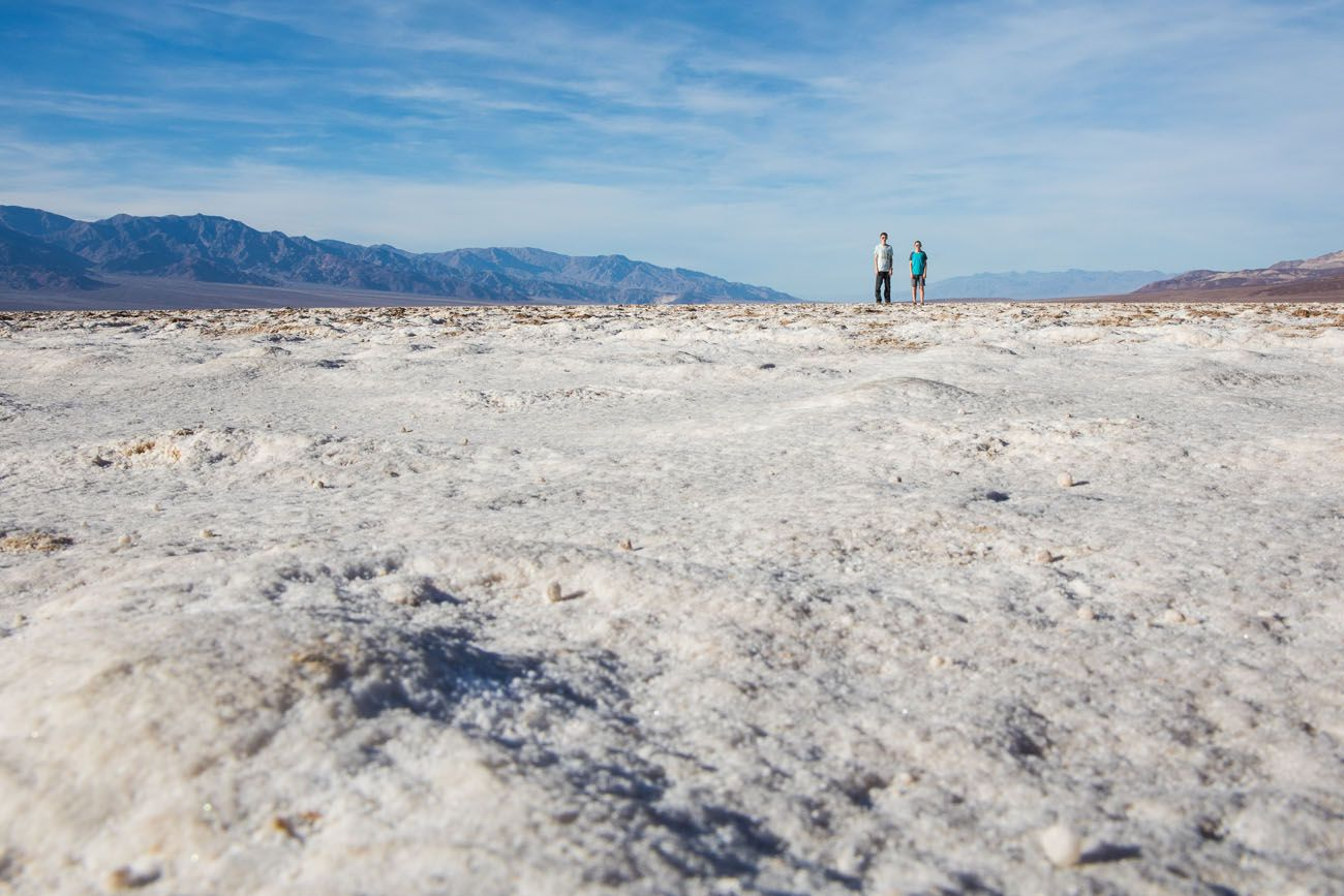 Kids in Death Valley national parks with kids