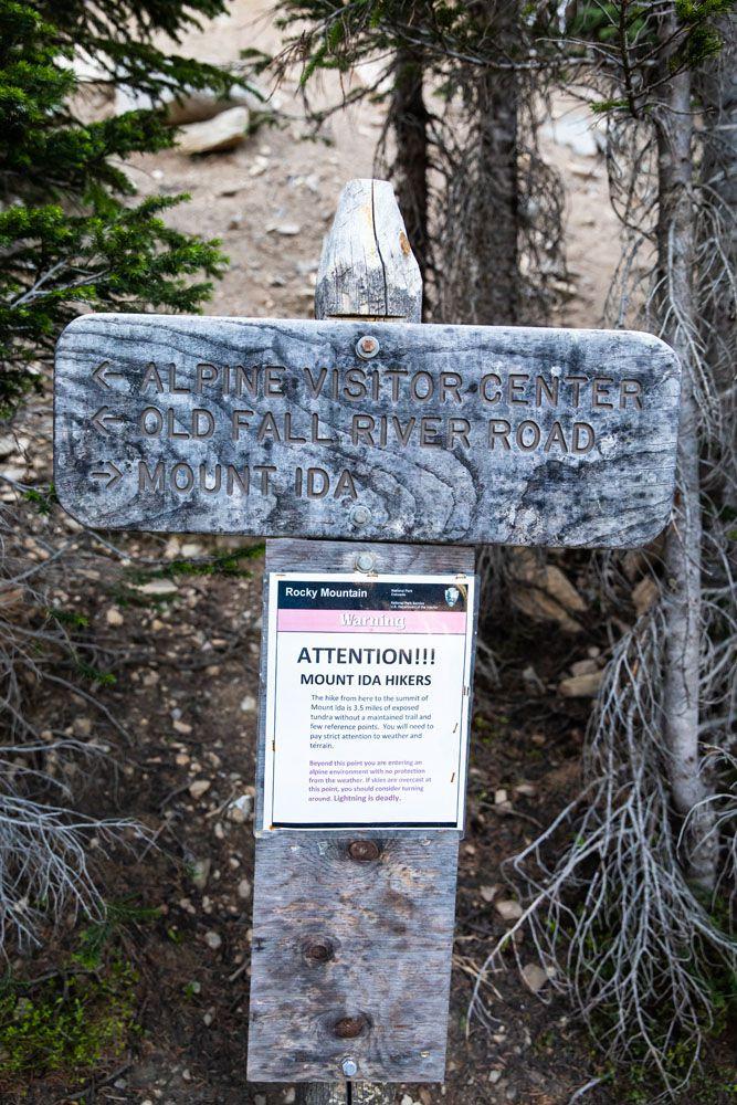 Mt Ida Sign