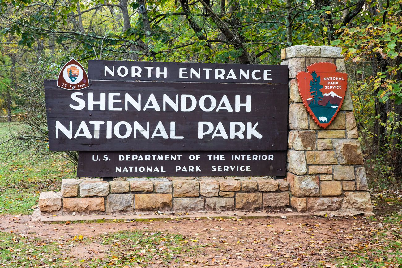 Shenandoah Entrance Sign