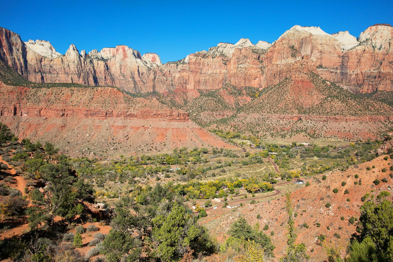 View from the Watchman Hike
