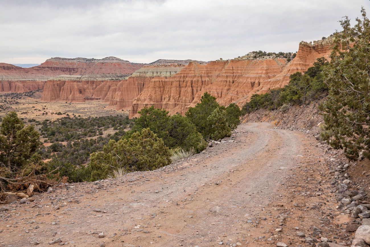 Cathedral Valley Gravel Road