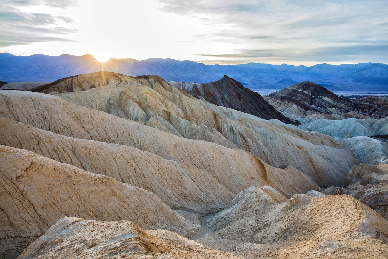 Death Valley Sunset short hikes in the national parks