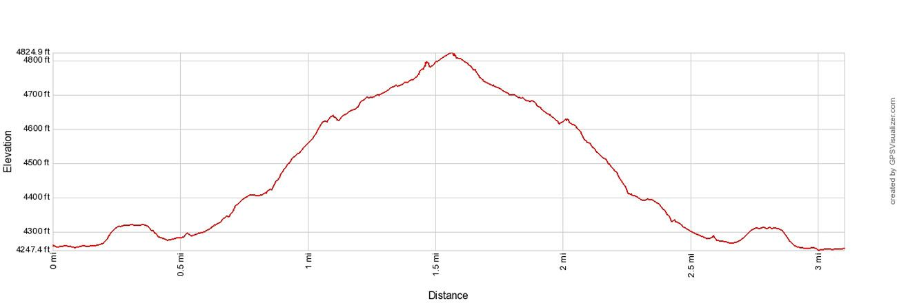 Delicate Arch Elevation Profile