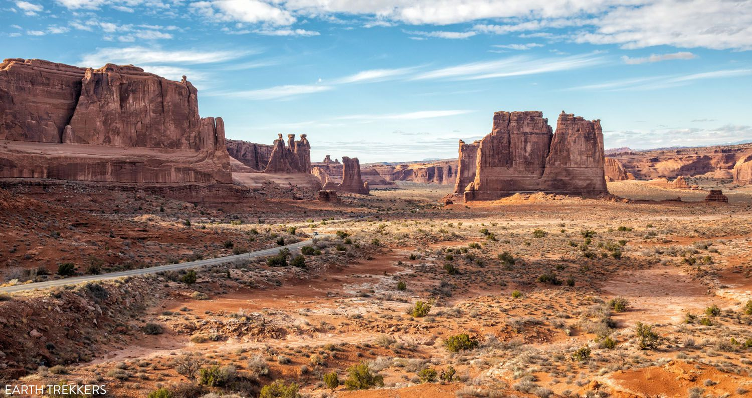 Driving in Arches National Park