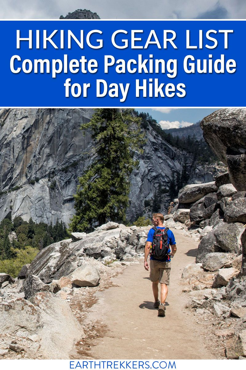 Hiking Gear Guide List for Day Hikes