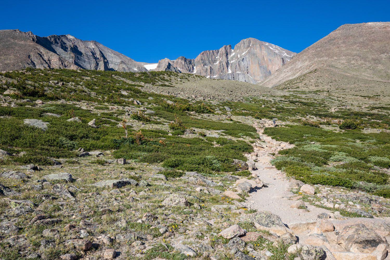 Hiking Trail to Longs Peak