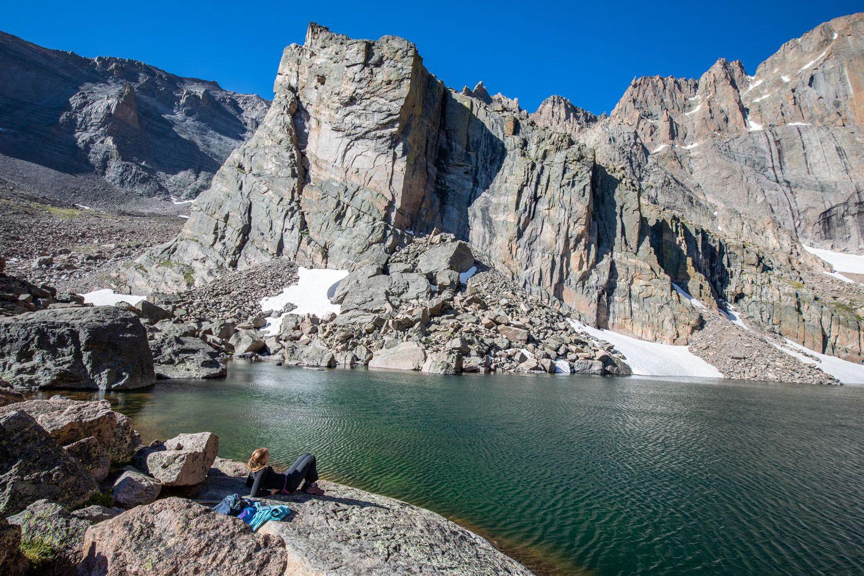 Kara at Chasm Lake