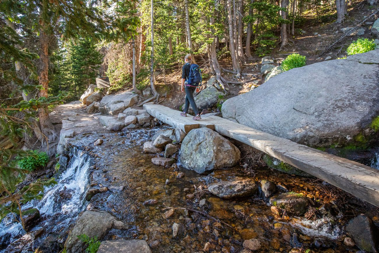 Log Bridge to Chasm Lake