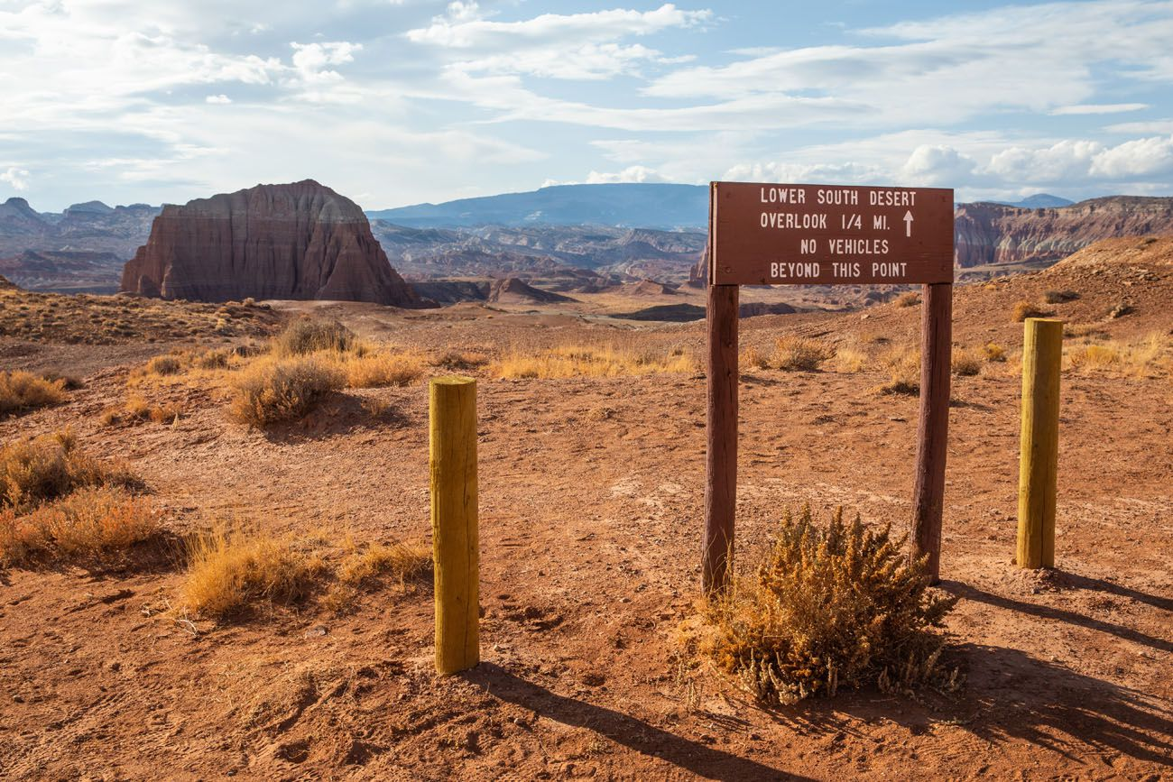 Lower South Desert Parking