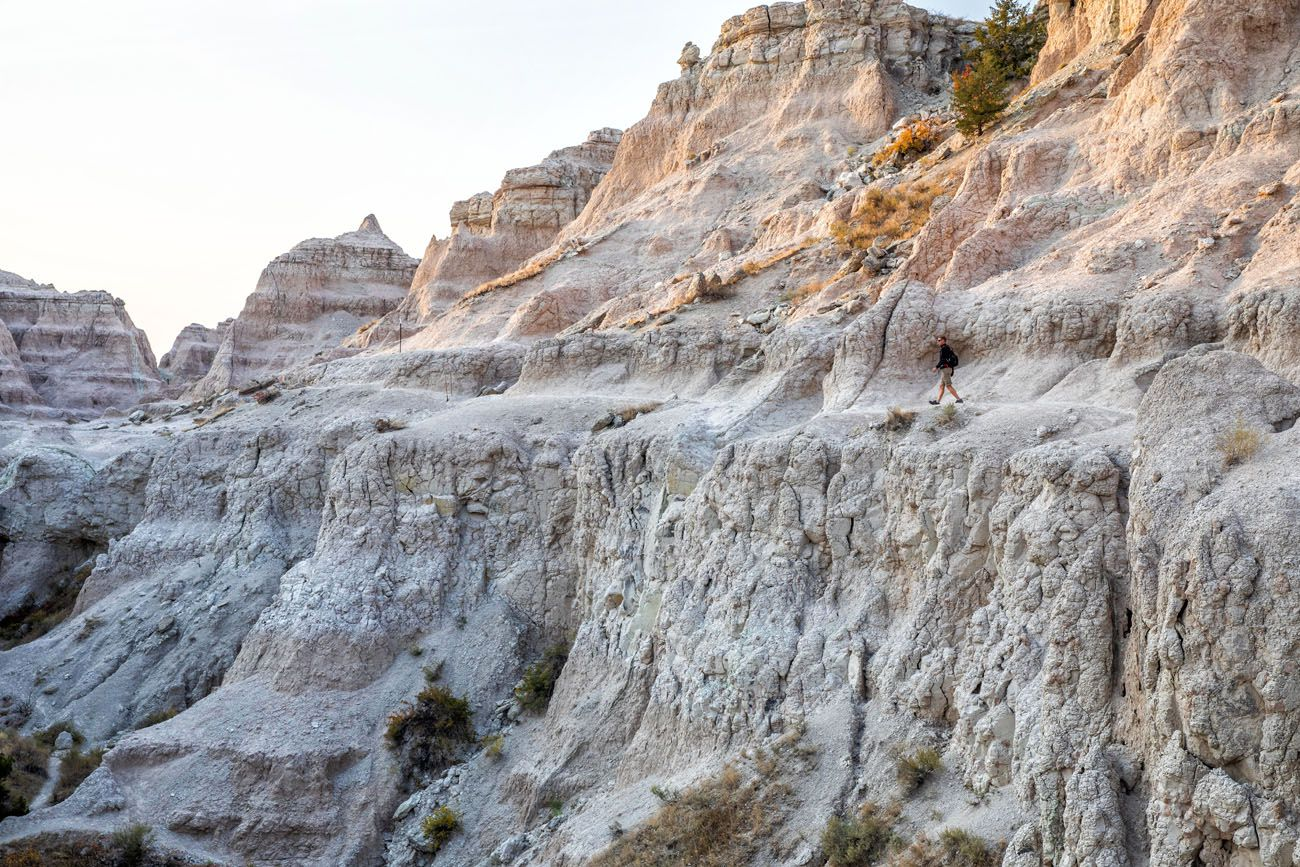 Notch Trail Badlands short hikes in the national parks