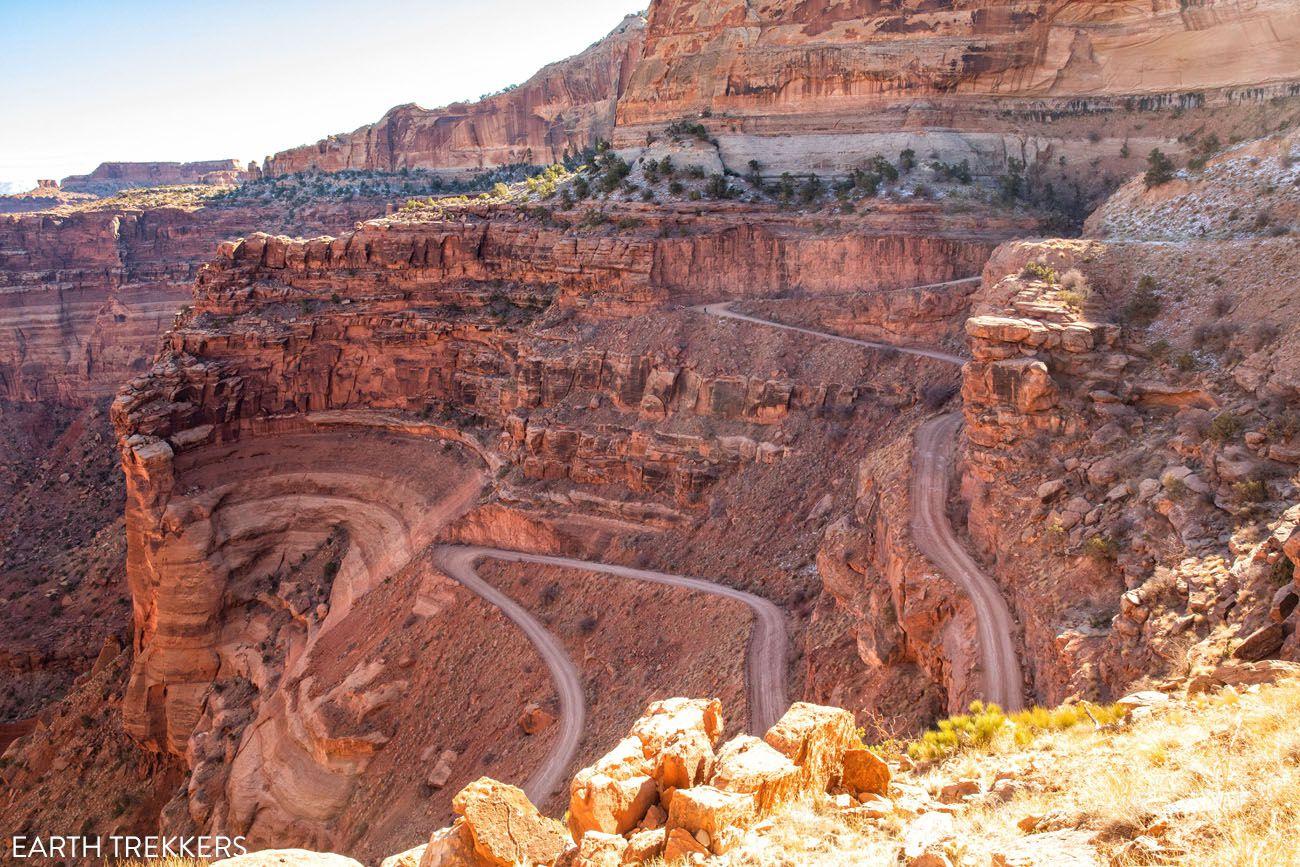 Shafer Canyon Switchbacks drive the White Rim Road