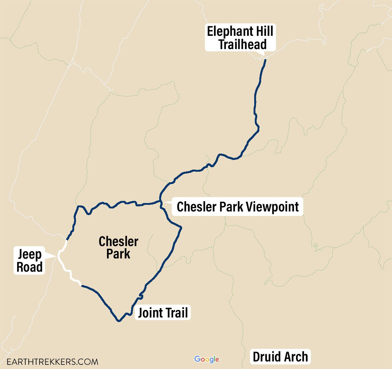 Chesler Park Loop Map