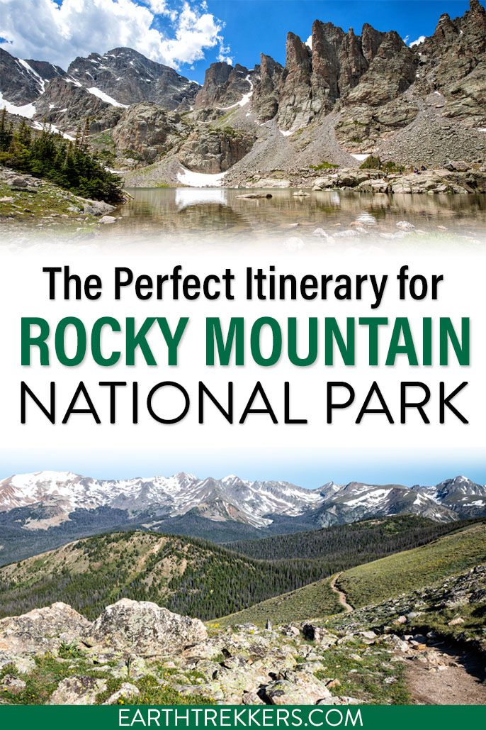 Itinerary for Rocky Mountain National Park