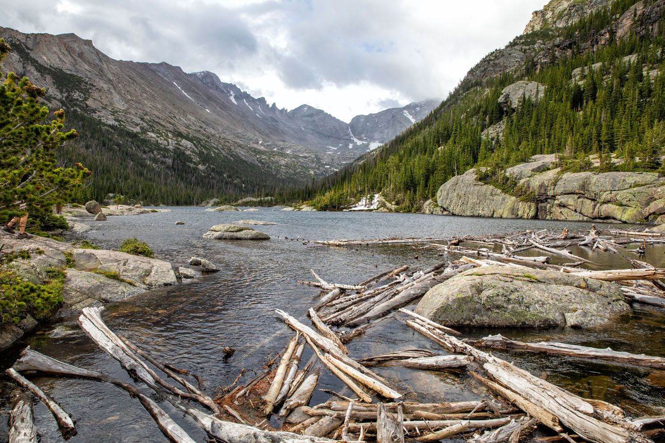 Mills Lake Rocky Mountain National Park itinerary