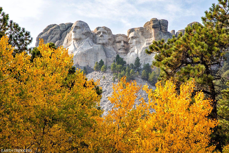 Mount Rushmore in October