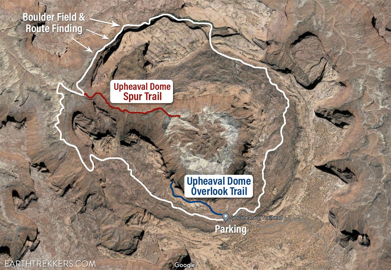 Syncline Loop Trail Map