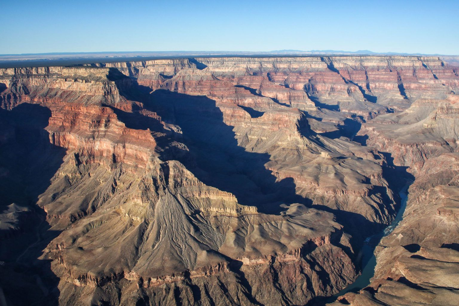 View of the Grand Canyon from a Helicopter