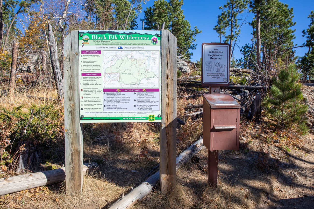 Black Elk Wilderness Registration