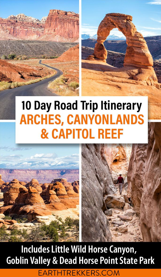 Canyonlands Arches Capitol Reef Itinerary