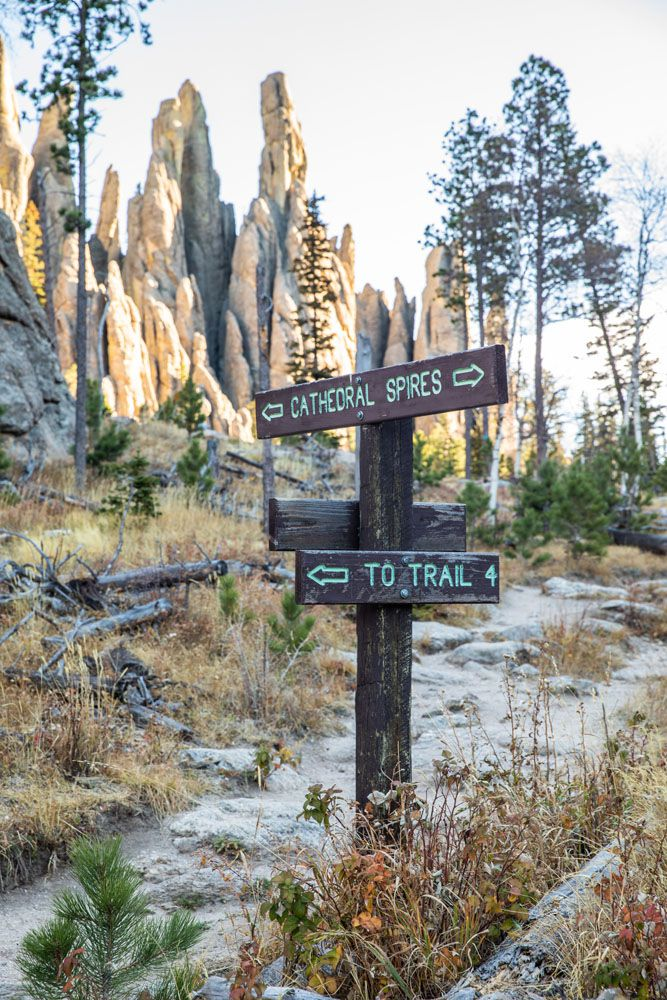 Cathedral Spires Trail Sign