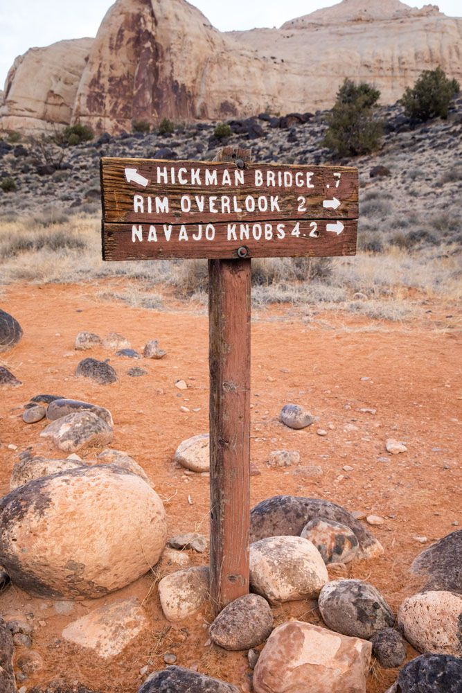 Hickman Bridge Trail Sign