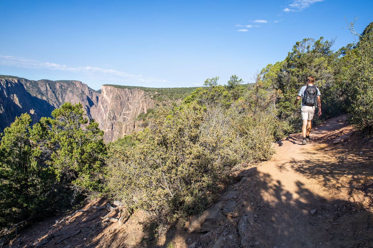 Hiking North Rim of Black Canyon of the Gunnison