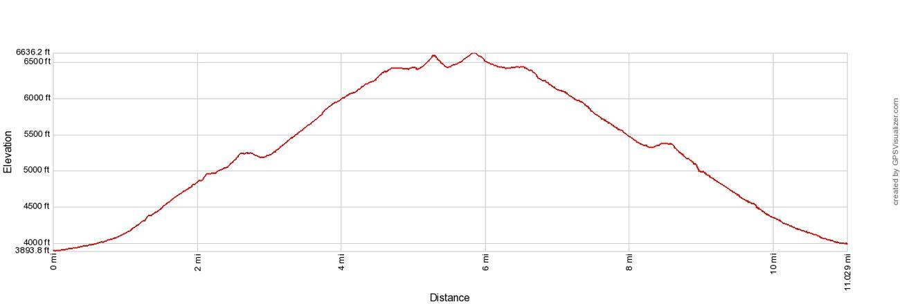 LeConte Elevation Profile