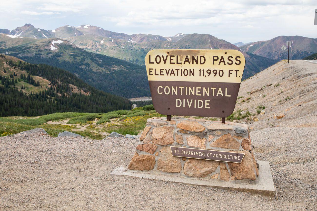 Loveland Pass Sign