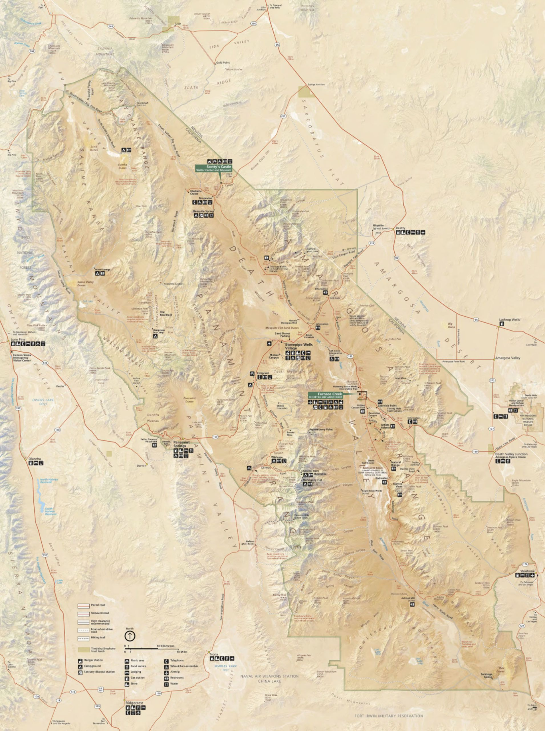 Death Valley Map