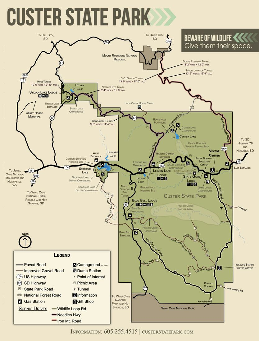 Map Custer State Park