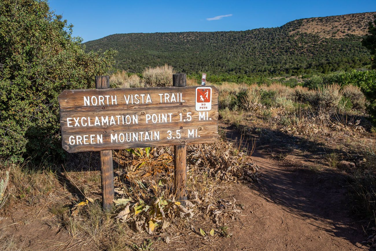 North Vista Trail Sign