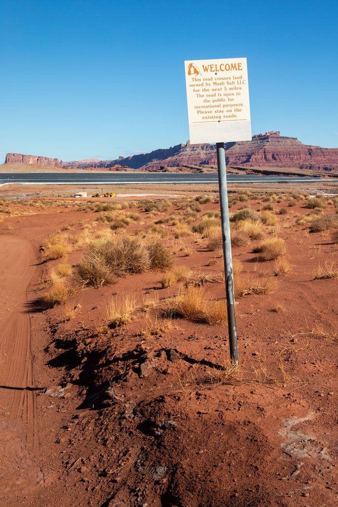 Potash Road Sign
