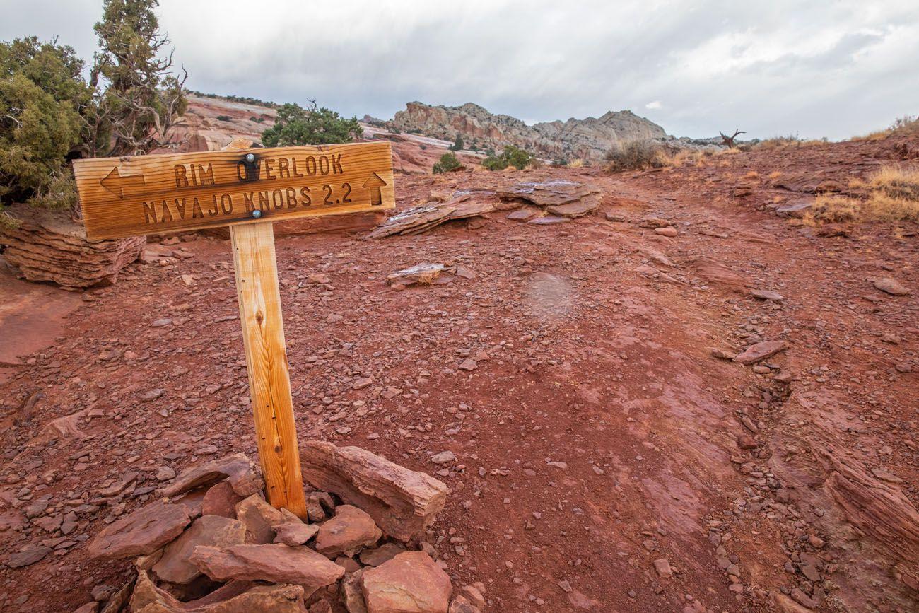 Rim Overlook Sign