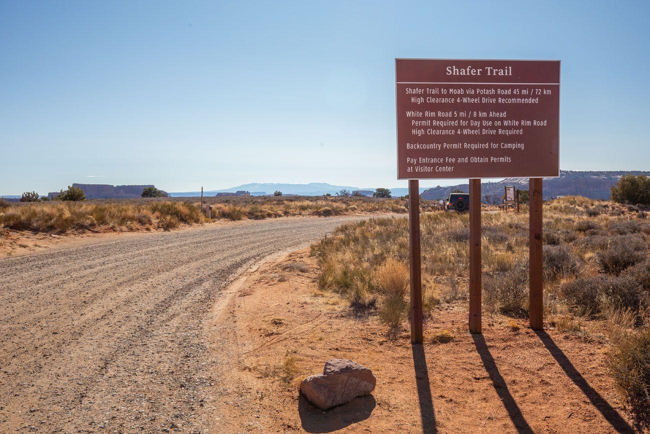 Shafer Canyon Road Entrance