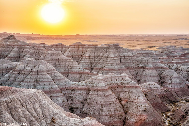 Sunrise Badlands National Park