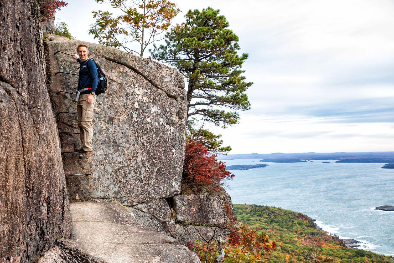 Tim on the Precipice Trail