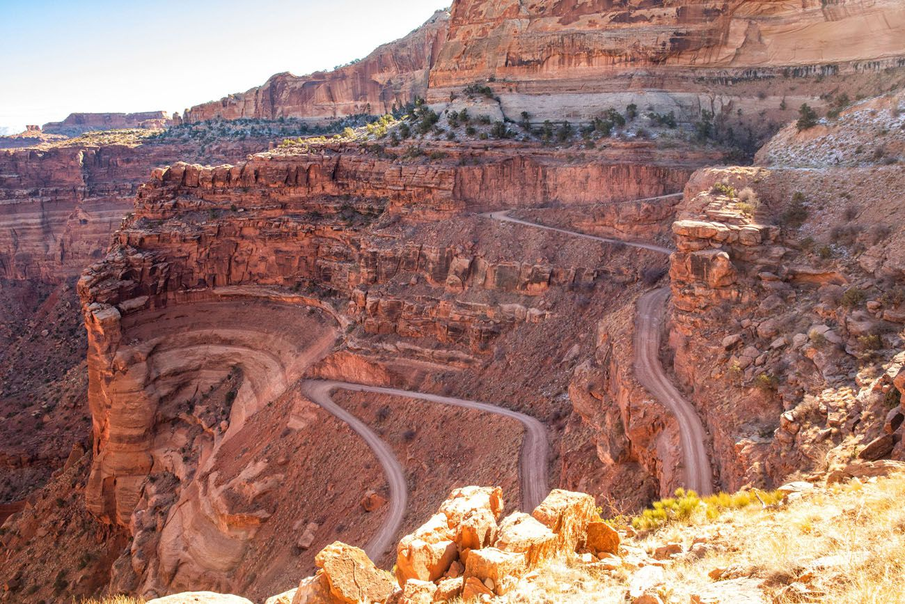 View of Shafer Canyon Switchbacks