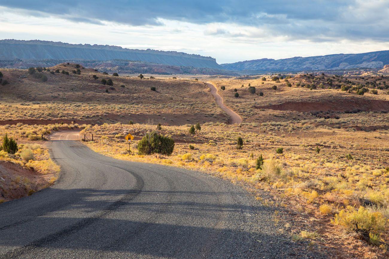 Bullfrog Notom Dirt Road