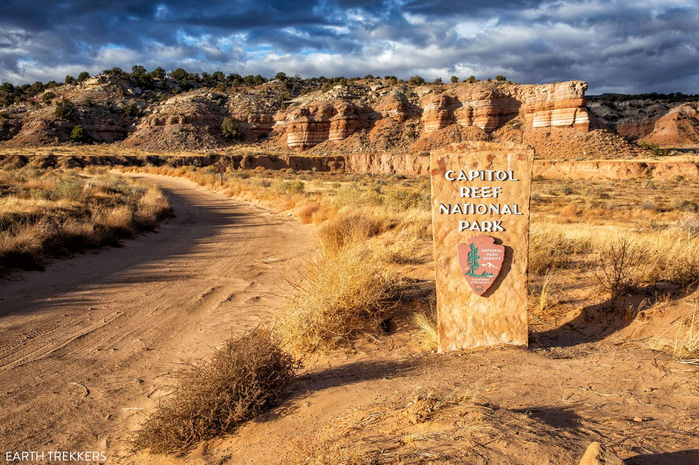 Capitol Reef Park Sign