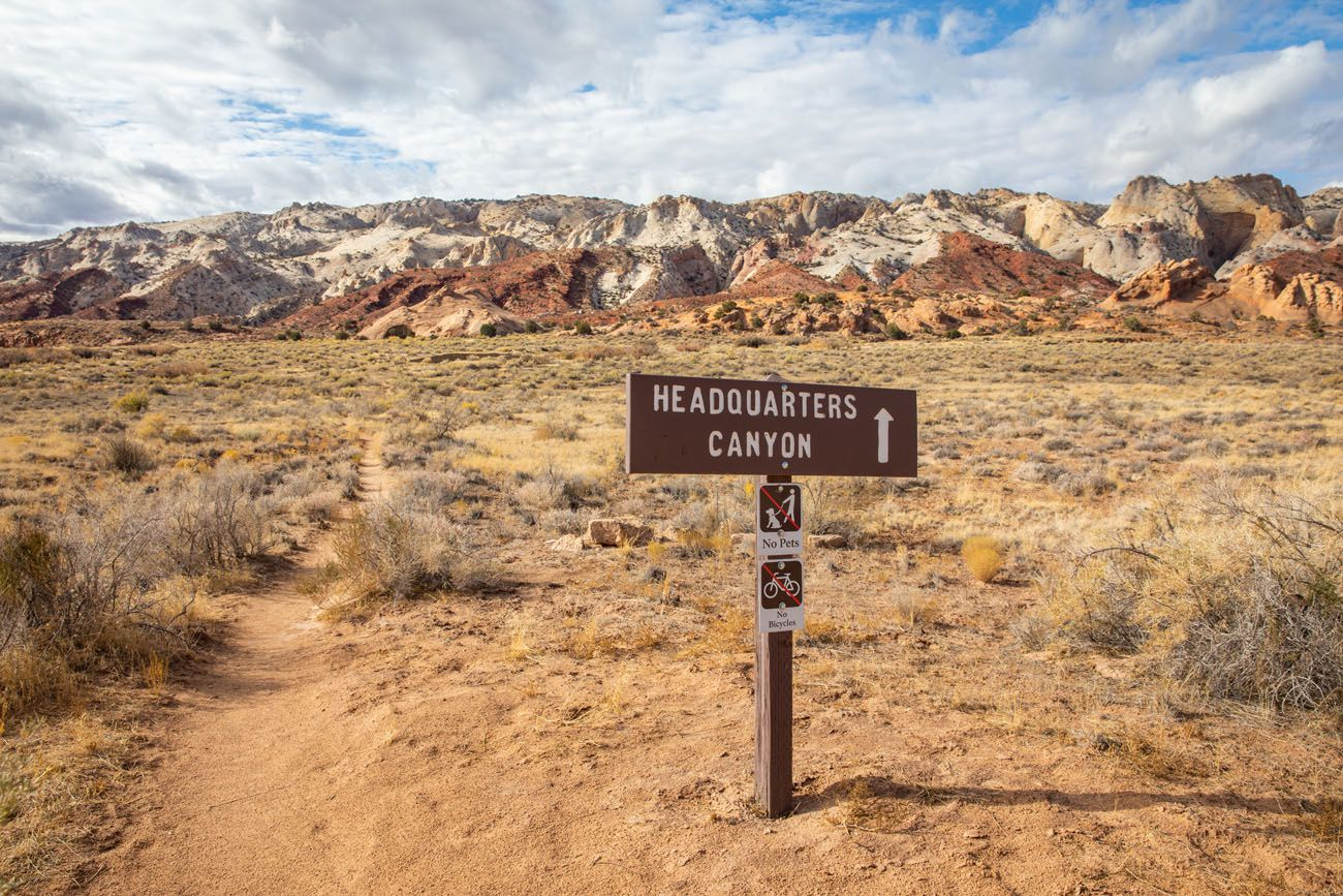 Headquarters Canyon Sign