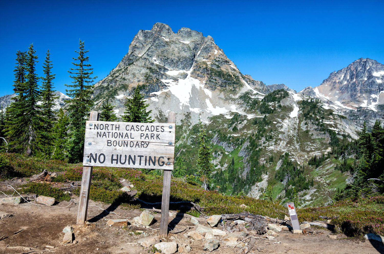 North Cascades Boundary Sign