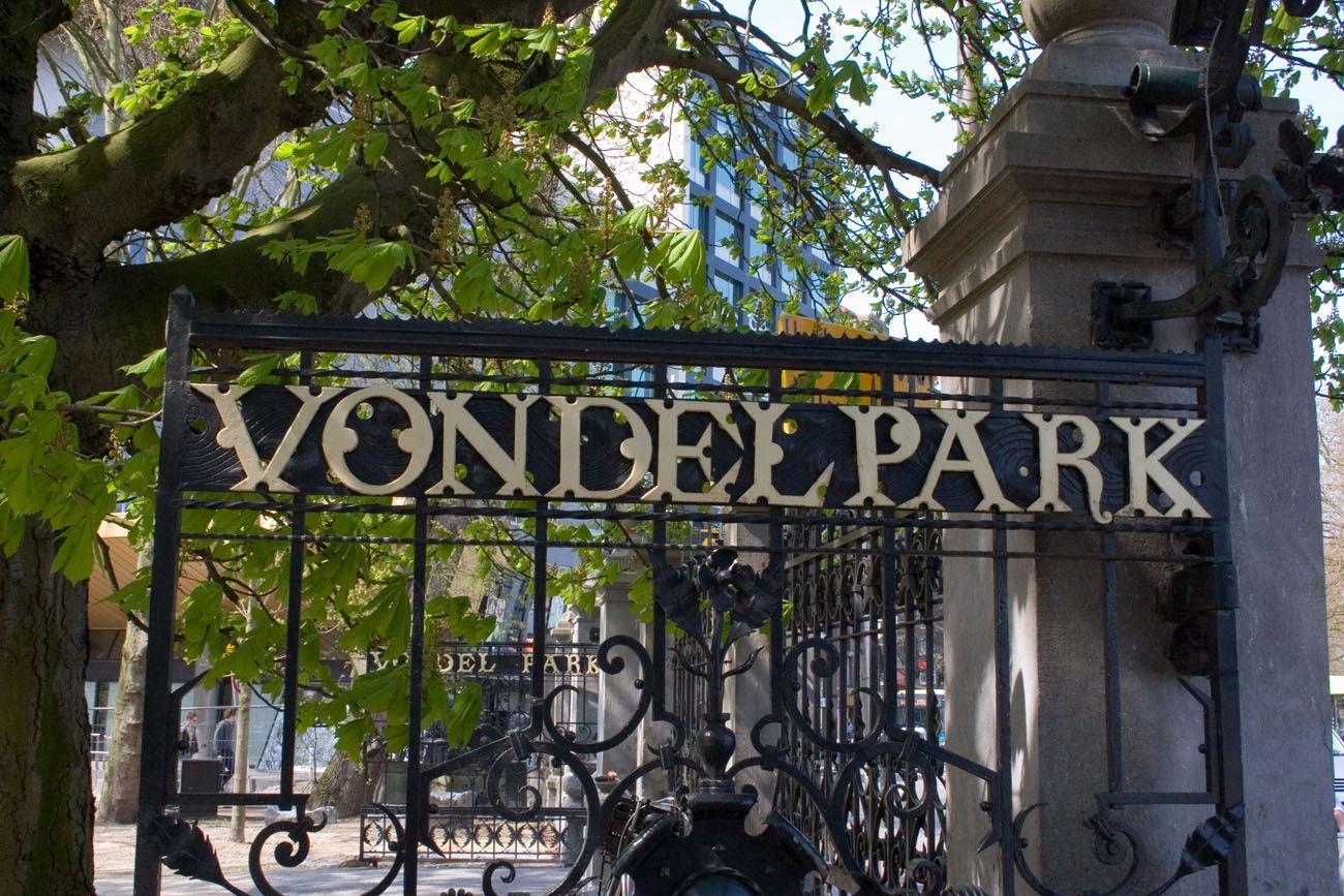 Vondelpark Sign