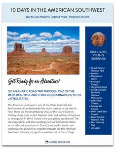 American southwest itinerary PDF