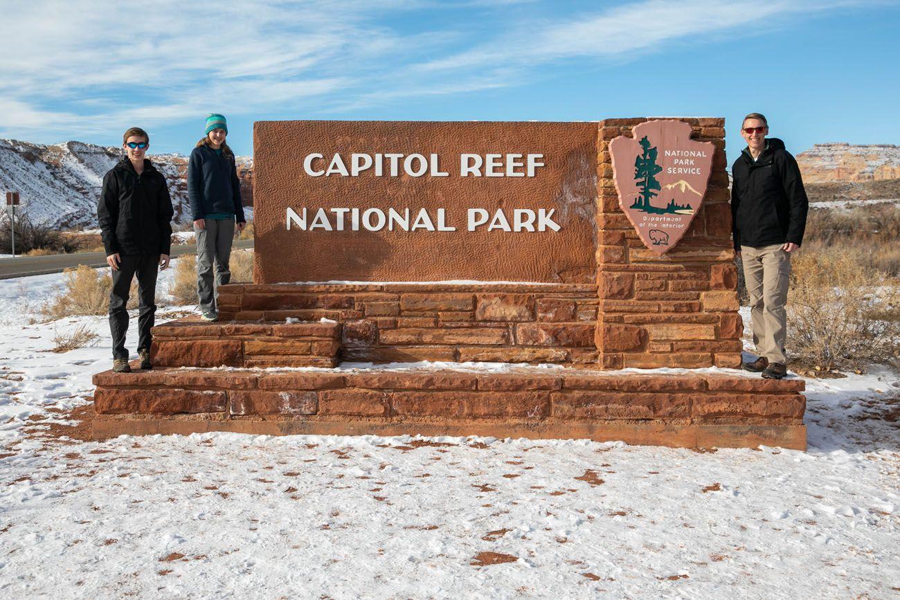 Capitol Reef in Winter