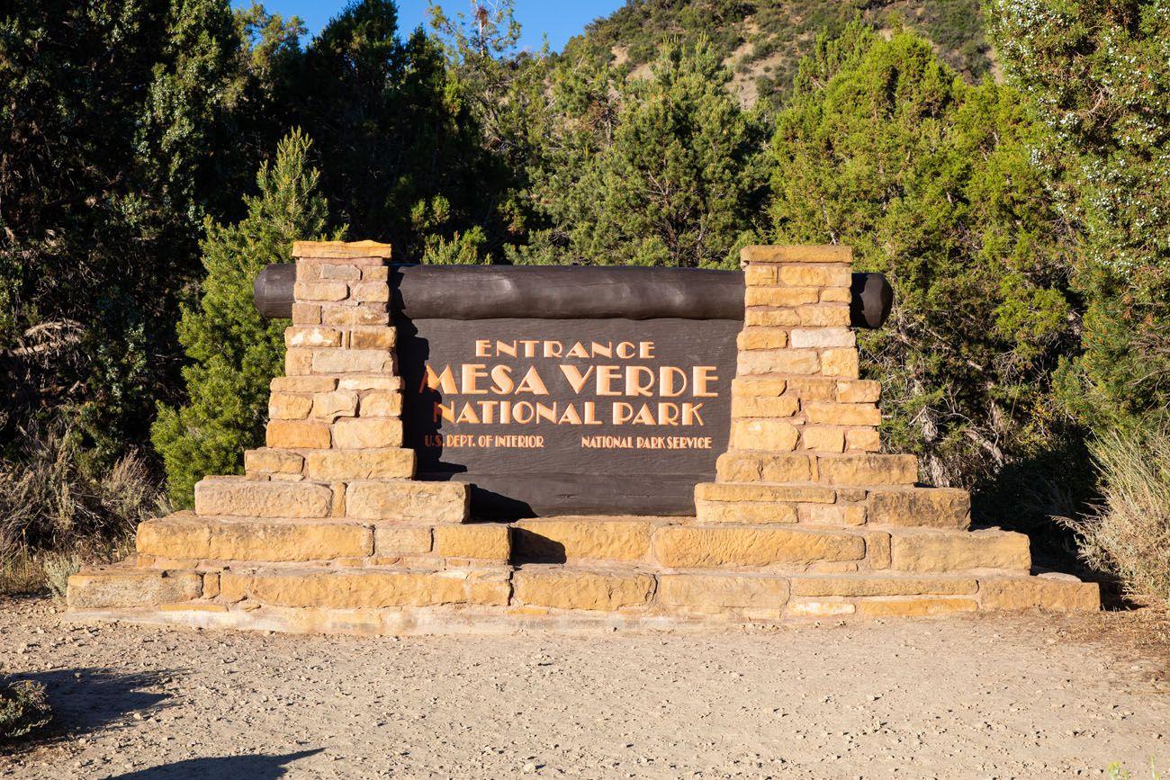 Mesa Verde Park Sign Colorado national parks