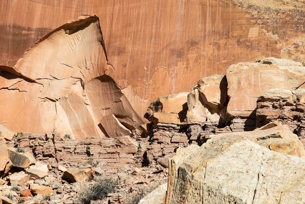 Petroglyphs One Day in Capitol Reef