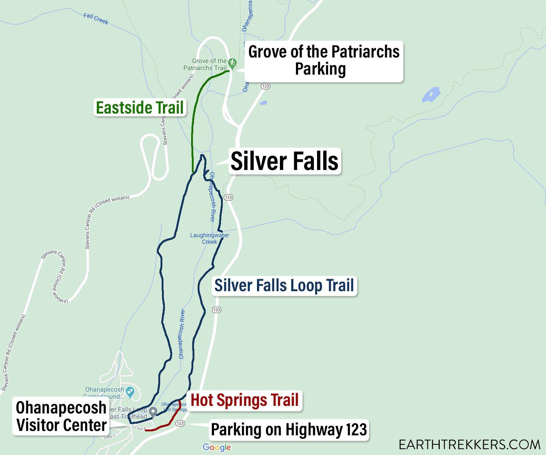 Silver Falls Loop Trail Map