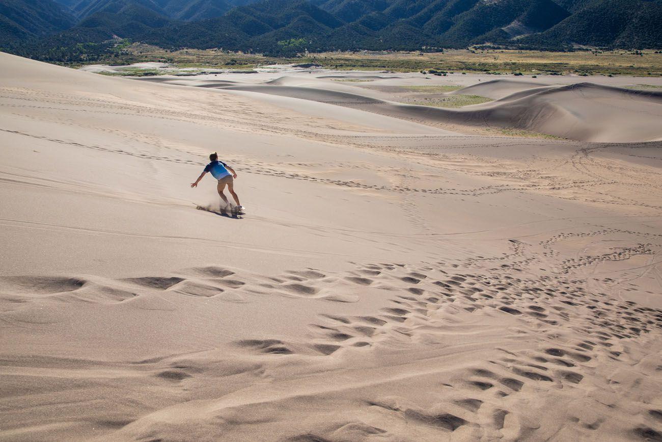 Tyler Sandboarding