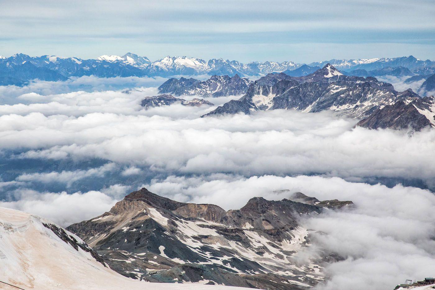 Alps View Matterhorn Glacier Paradise