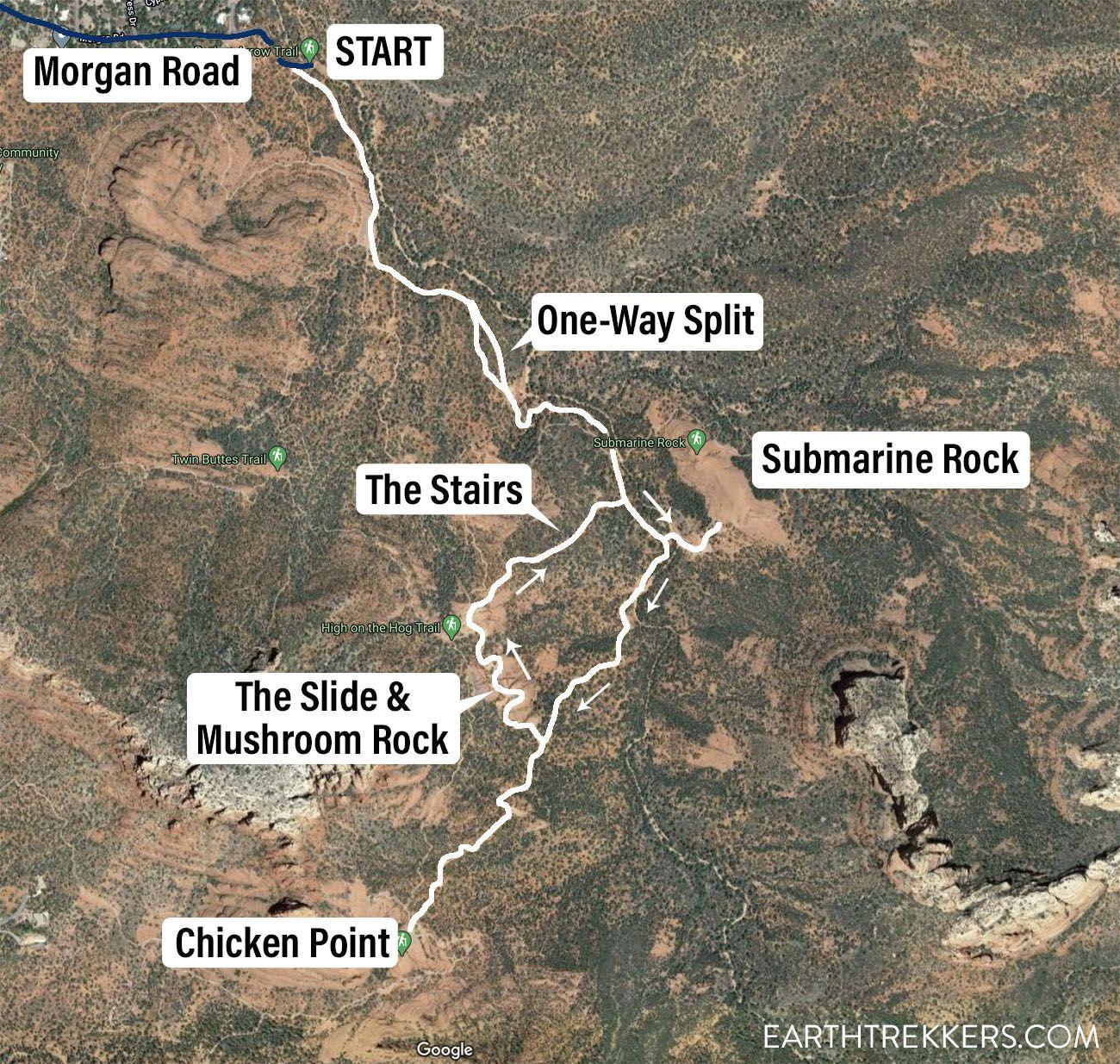 Broken Arrow 4WD Trail Map